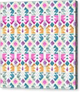 Aztec Inspired Arrow And Geometric Pattern One.jpg Acrylic Print