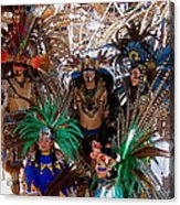 Aztec Performers O'odham Tash Casa Grande Arizona 2006  Acrylic Print