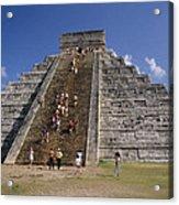 Aztec Temple Acrylic Print