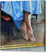 Through The Looking Glass- A Vision In Azure, Prelude To A Dance Acrylic Print