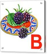 B Art Alphabet For Kids Room Acrylic Print