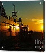 B C Ferries Sunsets Sc3417-13 Acrylic Print