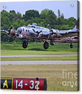 B17 Bomber Taking Off Acrylic Print