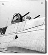 B17 Bomber Top Turret Guns Acrylic Print