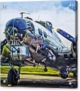 B17 Bomber Yankee Lady Acrylic Print