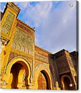Bab Mansour In Meknes In Morocco Acrylic Print