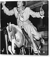 Babe Didrikson On Sidesaddle Acrylic Print