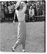 Babe Didrikson Teeing Off Acrylic Print