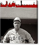 Babe Ruth As Member Of The Boston Red Sox National Photo Company Collection 1919-2013 Acrylic Print