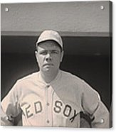 Babe Ruth With The Sox Acrylic Print