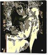 Baby Angel With Teddy Acrylic Print