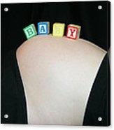 Baby Blocks Color 2 C Acrylic Print