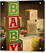 Baby Blocks Acrylic Print