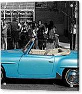 Baby Blue Benz Acrylic Print