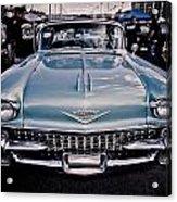 Baby Blue Cadillac Acrylic Print by Merrick Imagery