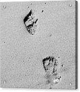 Baby Footprints On The Beach Acrylic Print