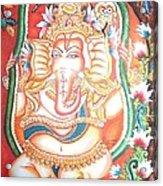 Baby Ganesha Swinging On A Snake Acrylic Print