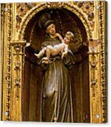 Baby Jesus And A Monk Sculpture Acrylic Print