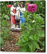 Baby Jesus In Garden Acrylic Print
