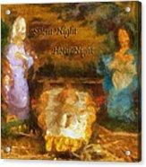 Baby Jesus Silent Night Photo Art Acrylic Print