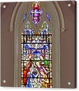 Baby Jesus Stained Glass Window Acrylic Print