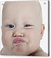Baby Making A Funny Face Acrylic Print
