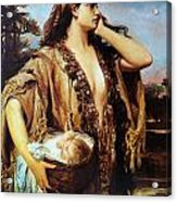 Baby Moses And Jacabed Acrylic Print