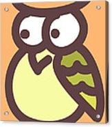 Baby Owl Nursery Wall Art Acrylic Print