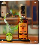 Bacardi And Lime In Love Acrylic Print