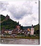 Bacharach Am Rhein And Burg Stahleck Acrylic Print