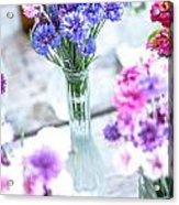 Bachelor Flowers Acrylic Print