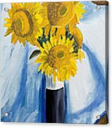 Back Bay Sunflowers Acrylic Print