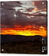 Back Country Sunset Acrylic Print