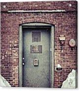 Back Door Alley Way Acrylic Print