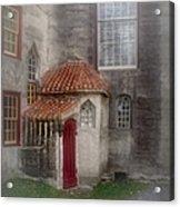 Back Door To The Castle Acrylic Print by Susan Candelario