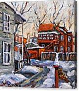 Back Lanes 02 Montreal By Prankearts Acrylic Print