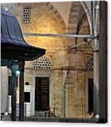 Back Lit Interior Of Mosque  Acrylic Print