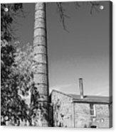 Back Of Amana Woolen Mill Amana Ia Bw Acrylic Print