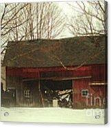 Back Road Barn Acrylic Print