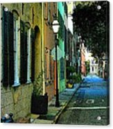 Back Street In Charleston Acrylic Print