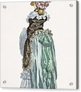Back View Of A Promenade Gown, Engraved Acrylic Print