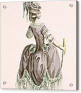 Back View Of Ladys Grey Promenade Acrylic Print