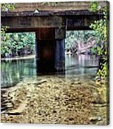 Back Water River Bridge Acrylic Print