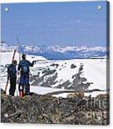 Backcountry Skiers Acrylic Print
