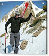 Backcountry Skiing, Citadel Peak, Co Acrylic Print
