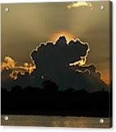 Backlit Clouds During Sunset Over Lago Acrylic Print