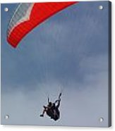 Backlit Paragliders From Below - Torrey Pines Acrylic Print by Anna Lisa Yoder