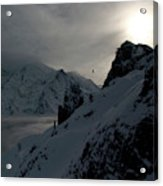 Backlit Skilift In Beautiful Landscape Acrylic Print