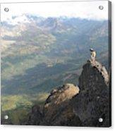 Backpackers Hike In Chugach State Park Acrylic Print