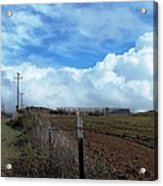 Backroads- Telephone Poles- And Barbed Wire Fences Acrylic Print